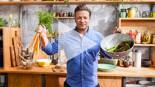 Jamie Oliver's meat-free meals