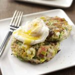 Sophie Wright's Leek and Pulled Ham Bubble and Squeak with a Poached Egg