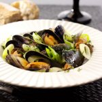 Larkin Cen's Leeks and Mussels in a Cider Sauce