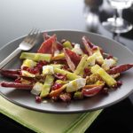 Sophie Wright's Roasted Leek, Endive, Walnut and Apple Salad with Goats Cheese