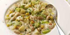 Sophie Wright's Leek, White Bean and Smoked Haddock Stew