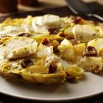 Leek, chorizo & goat's cheese tortilla