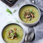 Leek and Fennel Soup with Shittake Mushrooms