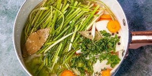 Leek and vegetable stock