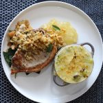Tidy Kitchen's Cheesy Leeks and Welsh Pork Chop with Sourdough and Hafod Crumb