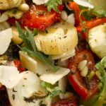 Balsamic Salad of Roasted Leek and Red Pepper