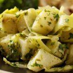 Salad of Celeriac, Leeks and Pesto