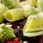 Warm Puy Lentil and Beetroot Salad with Balsamic Leeks
