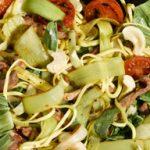 Leek and Bacon Stir Fry with Cashew