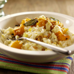 Squash, leek & lemon risotto with Caerphilly